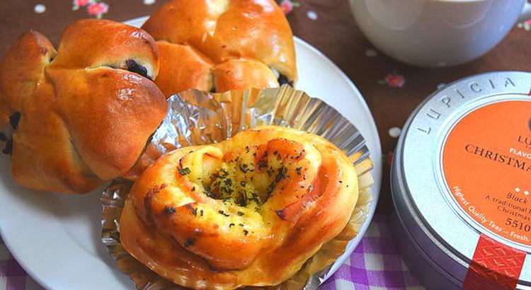 自家製バジルの香りでハムマヨロールパン♪&皆大好き!チョコチップパン♪