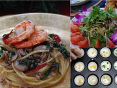 料理レッスン写真 - 本場タイ料理を楽しもう☆辛いパスタ&牛肉のスパイシーサラダ&スイーツ