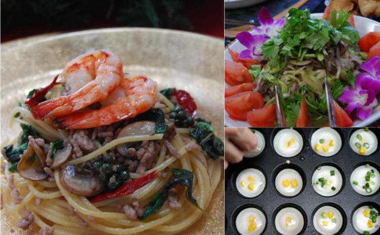 本場タイ料理を楽しもう☆辛いパスタ&牛肉のスパイシーサラダ&スイーツ