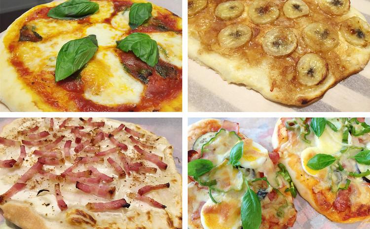 【特別レッスン】ピザ生地3種食べ比べ(4名でお申し込みください。)