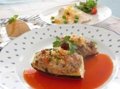 料理レッスン写真 - ~プロヴァンスの食卓~ズッキーニの肉詰め焼き、鶏肉のしっとりマリネ