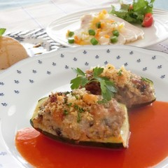 ~プロヴァンスの食卓~ズッキーニの肉詰め焼き、鶏肉のしっとりマリネ