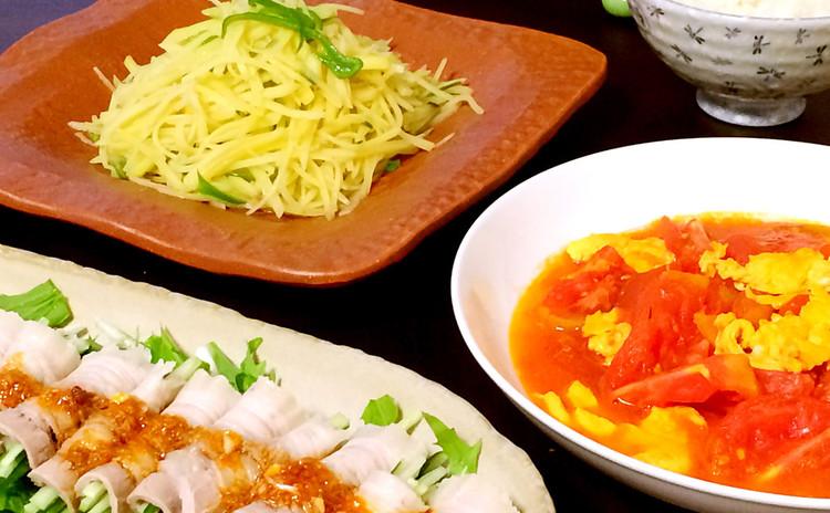 本当の中華定番料理★スタミナ肉料理とヘルシー野菜料理4品★