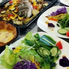 初夏の季節のお魚アクアパッツア&米粉チーズダッチベービー&季節のサラダ