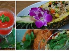 料理レッスン写真 - 本場タイ料理をご自宅で!パイナップルの器の炒飯に歓声があがります☆