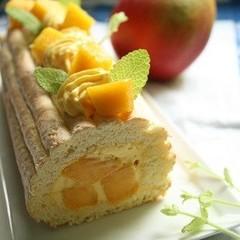 「アップルマンゴー」で作るロールケーキ、好評につき再登場/24cm1本
