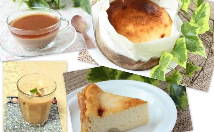 リコッタチーズを手作りして、キャラメルバナナベイクドチーズケーキ他2品