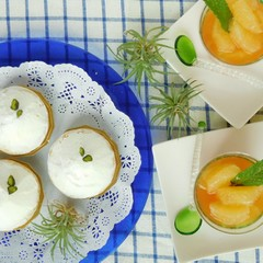 柑橘類の酸味がたまらない♪レモンクリームタルトとグレープフルーツゼリー