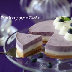豪華!2層が一度にできちゃうブルーベリーヨーグルトケーキ&ウフ♡プリン