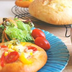 時短・簡単★【夏野菜のフォカッチャ】&【ローズマリーのフォカッチャ】