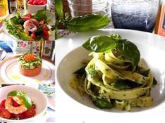 料理レッスン写真 - 生パスタでジェノベーゼ!ハーブと夏野菜たっぷりの夏のひんやりランチ