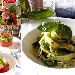 生パスタでジェノベーゼ!ハーブと夏野菜たっぷりの夏のひんやりランチ
