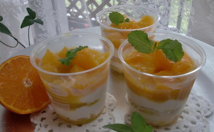 暑い夏にも元気になって!フレッシュなオレンジティラミス大カップ5個♪