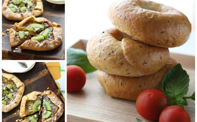 お盆にパン③ 爽やか美肌バジルベーグルと美白キウイガレット