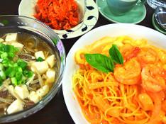 料理レッスン写真 - 暑い日にピリ辛韓国料理 驚く美味しさ★コチュジャンクリームパスタ