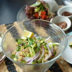 ★日本の調味料で作るアジアンメニュー★まぜ麺、エビのバジル炒め 他3品