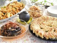 料理レッスン写真 - 簡単だから何度でも 焼き餃子、ヘルシー豚キムチ、蒸しナスサラダ等