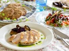 料理レッスン写真 - 簡単だから何度でも しっとり鶏胸肉のソテー、自家製スモークサーモン他