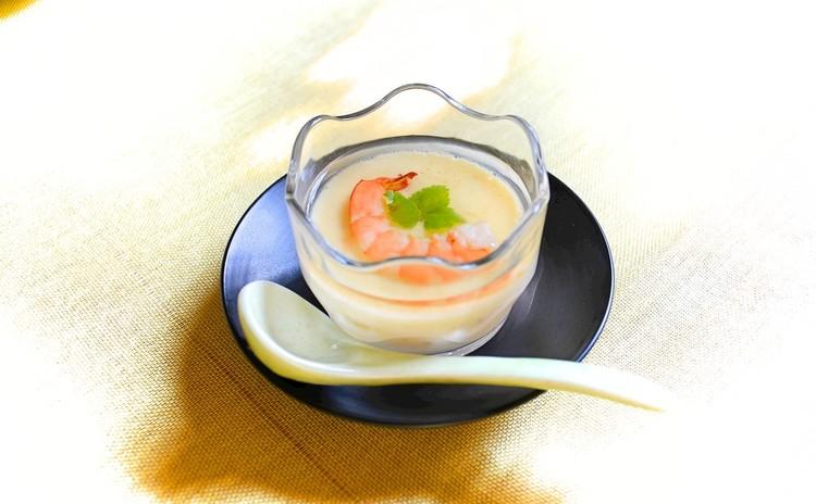 海老の冷製茶碗蒸し