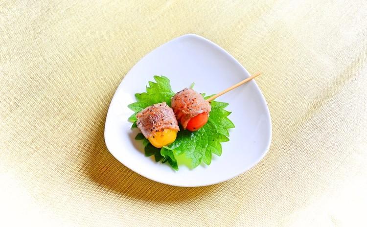 トマトの串もの