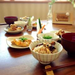 食欲の秋に食べたい和食。舞茸と胡桃の炊き込みご飯他6品