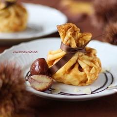 型のいらないお菓子 バターの香りがたまらない♡巾着クレープ・マロン