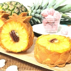☆パイナップルのケーキとピンクのほろほろクッキー☆