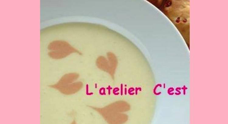ピンクハートのポテトスープ
