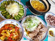 料理レッスン写真 - 疲労回復の食材「イカ」と「豚肉」が主役!夏バテ解消の「おもてなし献立」