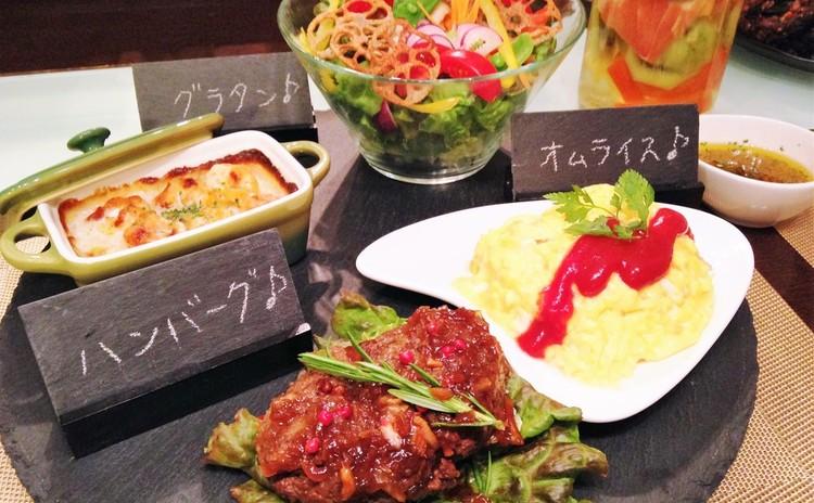 オムライス&ハンバーグ&グラタン&プリン 定番洋食をレストラン風に♪