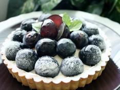 料理レッスン写真 - 「葡萄のクリームチーズタルト」で秋の味覚のタルト(16㎝丸タルト1台)