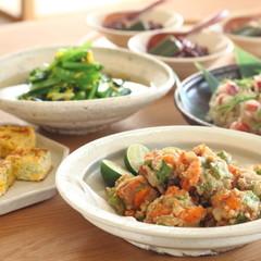何度でも作りたい家庭料理 挽肉のかき揚げ・蛸の混ぜご飯・青菜のお浸し等