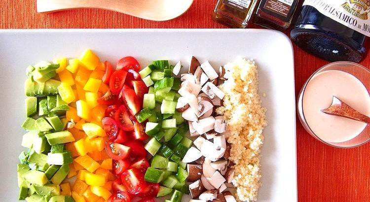 5種のお野菜とクスクスのコブサラダ