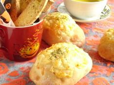 料理レッスン写真 - ミニランチ付きWチーズガーリックソフトフランス&かぼちゃのビスコッティ