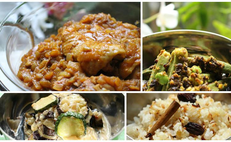 南インドペパーミント風味カレー&オクラやナスもご馳走インド料理に変身!