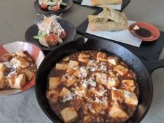料理レッスン写真 - 市販の素に頼らない!自分で作る本格麻婆豆腐と春巻き