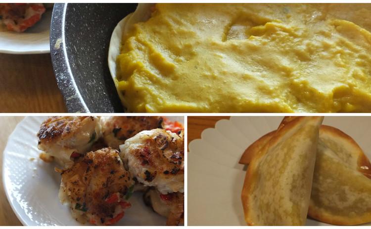 南瓜と餃子の皮使い切り&パイとチキンナゲットとデザートに変身