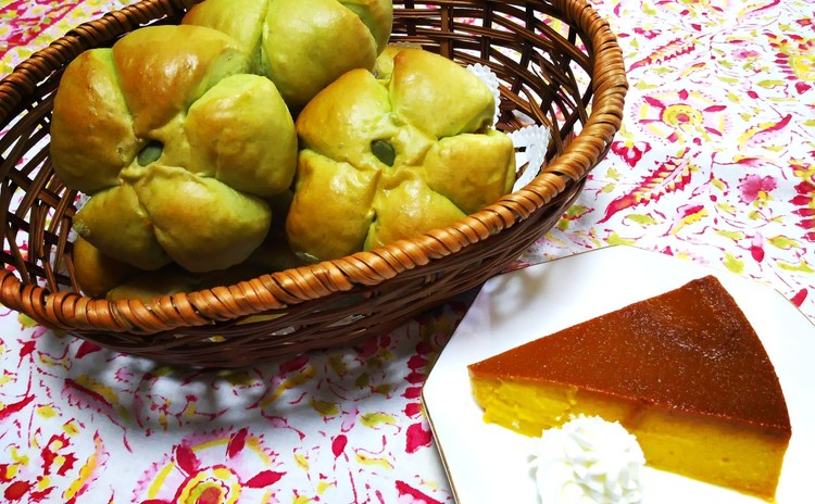 ハロウィンレッスン第2弾‼ パンプキンプリンとふっくらかぼちゃあんパン