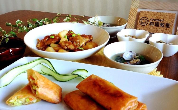 中華の定番を作りやすく!黒酢豚、春巻き、南瓜ゴマ団子 他2品