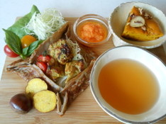 料理レッスン写真 - お家で簡単に秋のカフェ気分♡柔らかタンドリーチキンからパンプキンケーキ