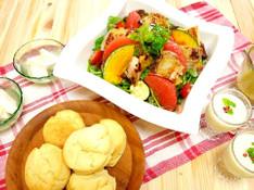料理レッスン写真 - 甘いだけじゃないッ!お食事にも合うポテトスコーンとグリルチキンサラダ