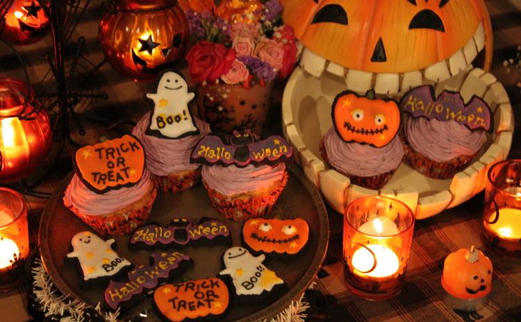 【ハロウィン♪】かぼちゃのカップケーキとアイシングクッキー