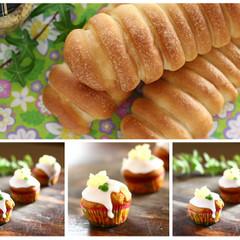 この秋食べたい!スパイシーウィンナーロール&ハミングバードカップケーキ