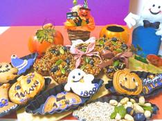 料理レッスン写真 - ☆胡麻のフロランタン☆ハロウィンクッキー☆<軽食付きのお菓子レッスン>
