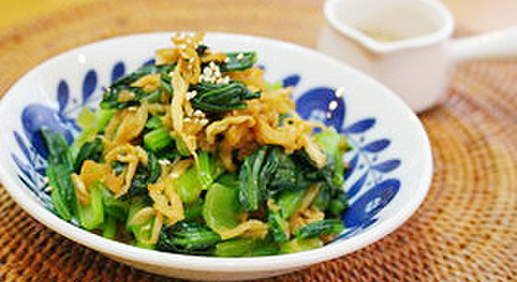 @ さっと作れて美味しい食べ応え!切り干し大根と青菜の和え物
