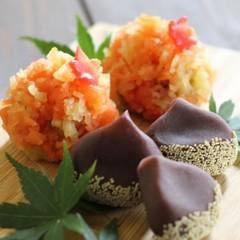 秋を感じる和菓子2品!「山の秋」羊羹金団製と「栗」練り切り製