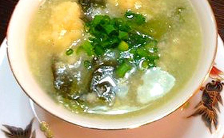 スップマンクア(蟹とアスパラガスのスープ)