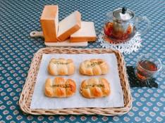 料理レッスン写真 - リッチな生クリーム入り角食パンとちくわパン