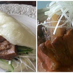 レーズン酵母液!中華蒸しパン&やわらか豚の角煮サンド