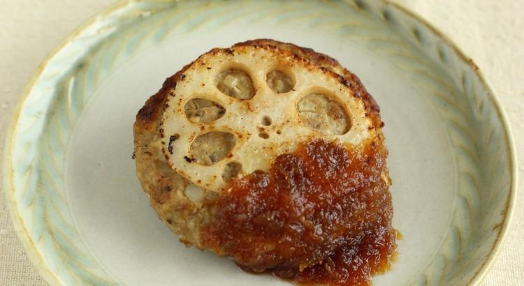 れんこんハンバーグ&旨味たっぷり玉ねぎソース